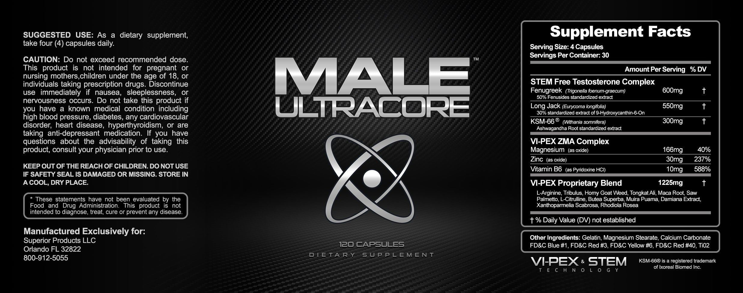 Male Ultracore Ingredients